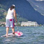 Stand Up Paddlerin am Zeller See im Salzburgerland
